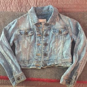 Supercute Girls 6 Cherokee polkadotted jean jacket